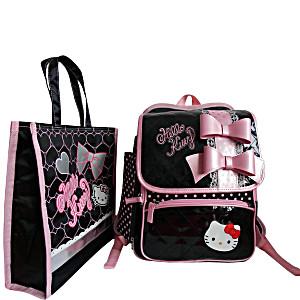 Школьный ранец-рюкзак Sanrio Hello Kitty BP91001 (0-3 класс, 15 литр) + сумка для сменной обуви