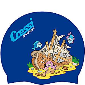 Детская шапочка для плавания Cressi JR детская силиконовая Корабль