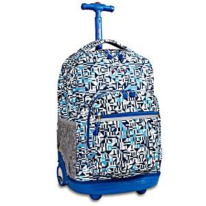 Универсальный школьный рюкзак на колесах JWORLD Sunrise арт. RBS18 GEO