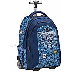 Рюкзак с колесами и ручкой Belmil Истребитель 338-45/645 Sky